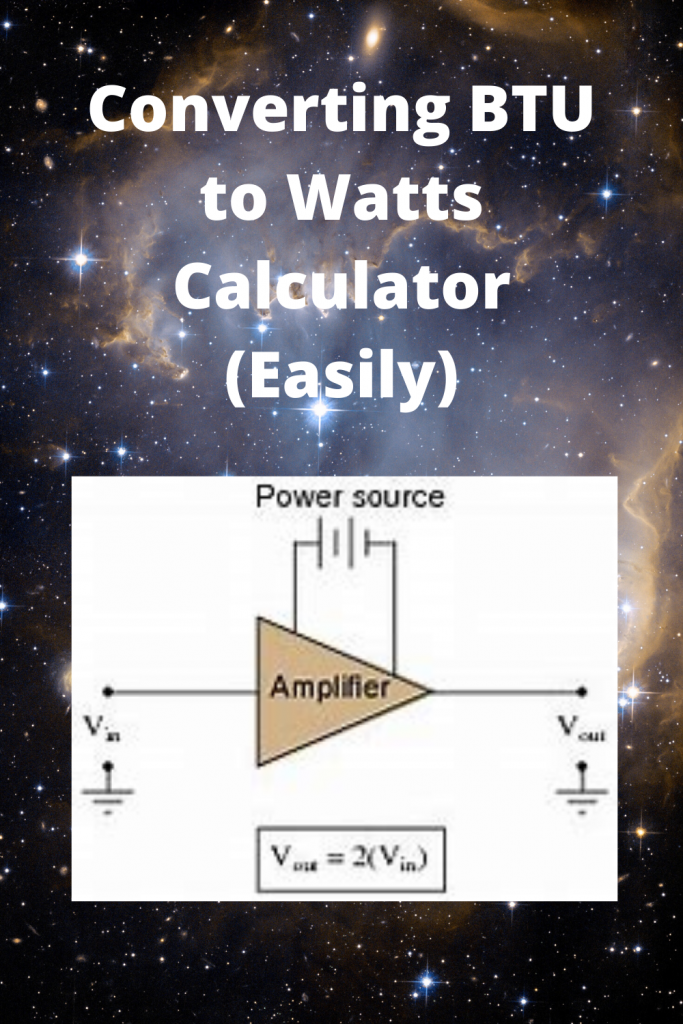 Converting BTU to Watts Calculator (Easily)