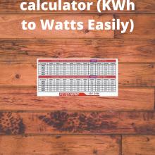 KWh to Watts calculator