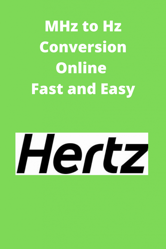 MHz to Hz Conversion Online Fast and Easy