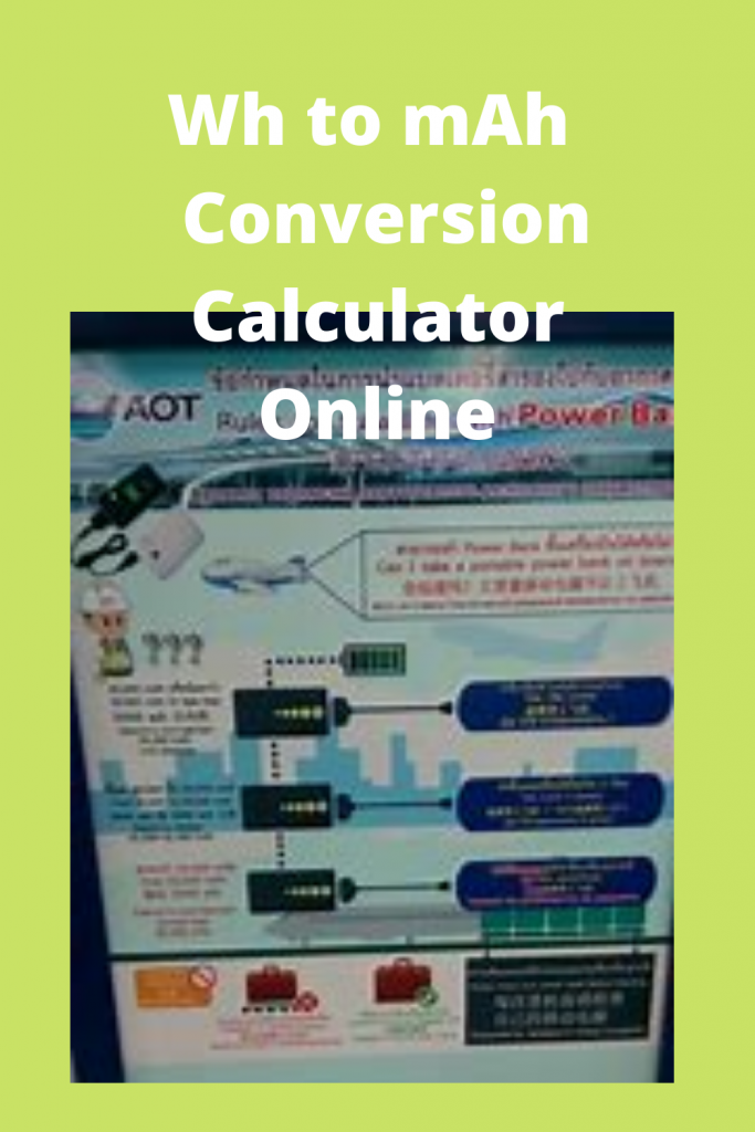 Wh to mAh  Conversion Calculator Online