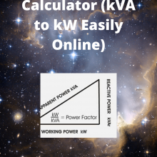 kVA to kW Calculator
