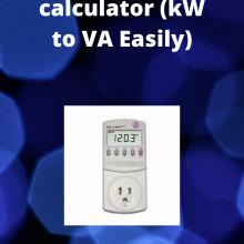 kW to VA calculator