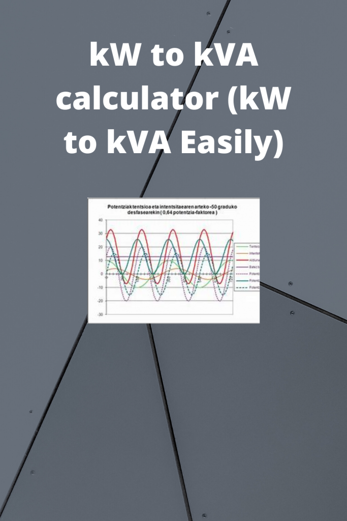kW to kVA calculator (kW to kVA Easily)